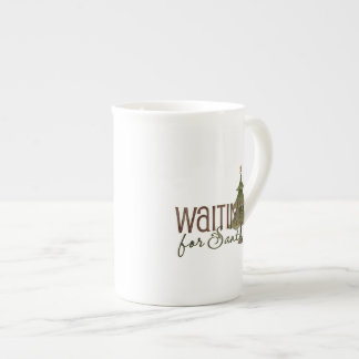 Waiting For Santa Christmas Tree Porcelain Mug