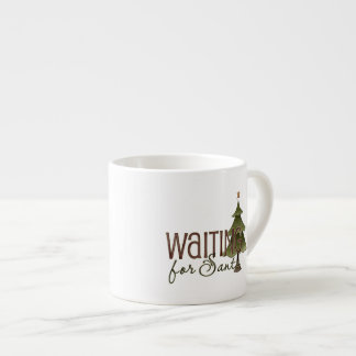 Waiting For Santa Christmas Tree Espresso Mug