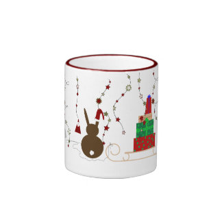 Waiting for Santa Claus Ringer Mug