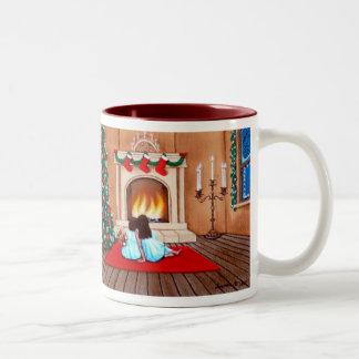 """""""Waiting for Santa Claus"""" Two-Tone Mug"""