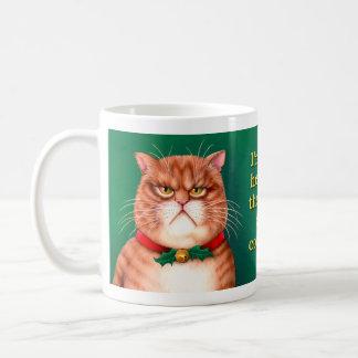 Waiting for Santa Claws Basic White Mug