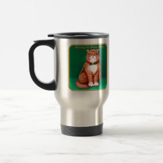 Waiting for Santa Claws Stainless Steel Travel Mug
