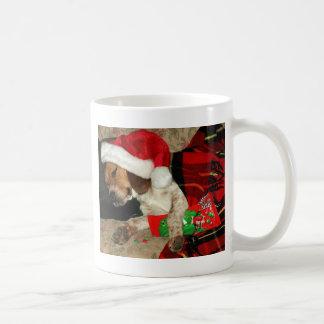 Waiting for Santa cup-Christmas Snoopy dog holiday Basic White Mug
