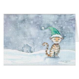 Waiting For Santa Holiday Card