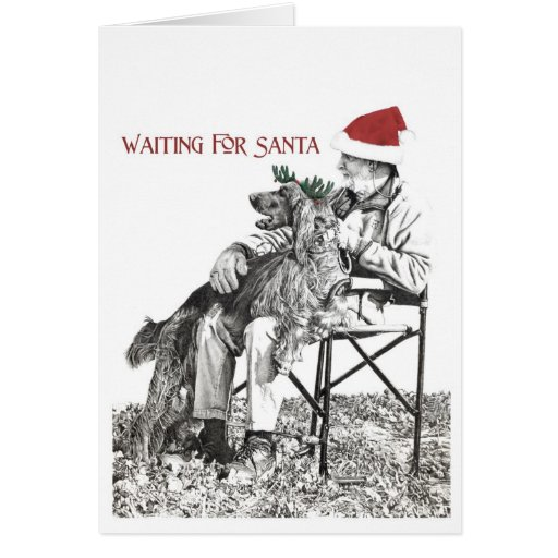 Waiting for Santa II Greeting Cards