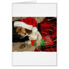 Waiting for Santa- Snoopy Beagle Dog Christmas Card