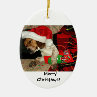 Waiting for Santa / Snoopy Beagle Dog Christmas Christmas Ornament