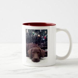 Waiting for Santa Two-Tone Mug