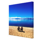 Waiting for Summer on Lake Tahoe Canvas Print