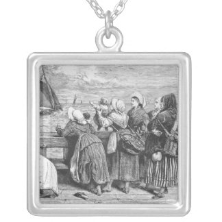 Waiting for the Boats Silver Plated Necklace