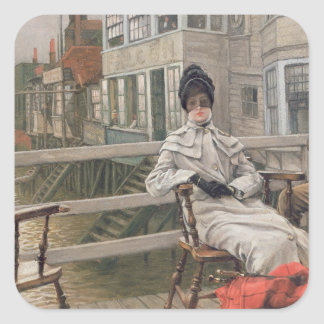 Waiting for the Ferry, c.1878 Square Sticker