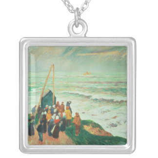 Waiting for the Return of the Fishermen Silver Plated Necklace