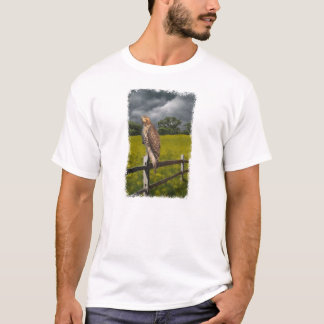 Waiting for the Storm - Red tail Hawk T-Shirt