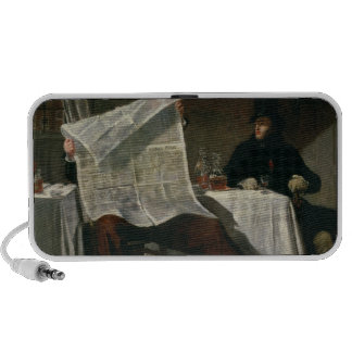 Waiting for the Times, 1831 (oil on canvas) Travel Speakers