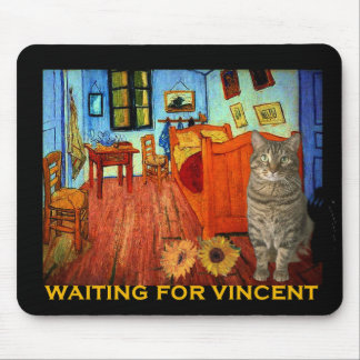 Waiting for Vincent Van Gogh Mouse Mat