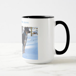 waiting for winter's first storm mug