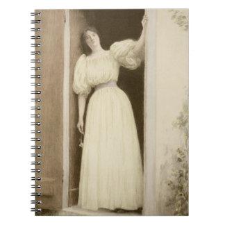 Waiting, from 'L'Estampe Moderne', published Paris Notebook