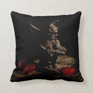 Waiting Gargoyle Gothic Throw Pillow