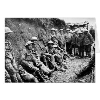 Waiting in the Trenches WWI Greeting Card
