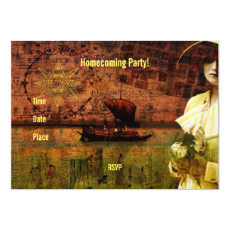 "Waiting on Dry Land 5"" X 7"" Invitation Card"