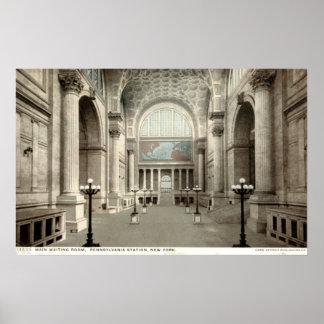 Waiting Room, Pennsylvania Station NY 1913 Vintage Posters