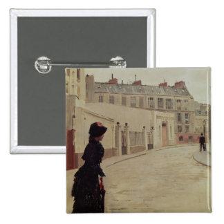 Waiting, Rue de Chateaubriand, Paris 15 Cm Square Badge