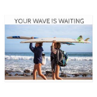 Waiting wave postcard