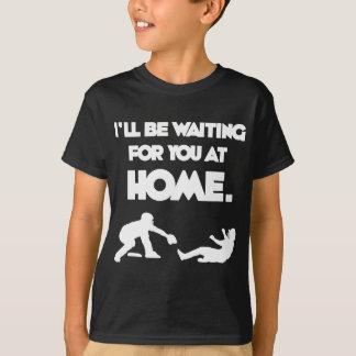 Waiting, white T-Shirt