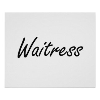 Waitress Artistic Job Design Poster
