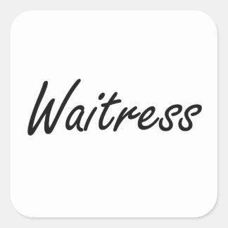 Waitress Artistic Job Design Square Sticker