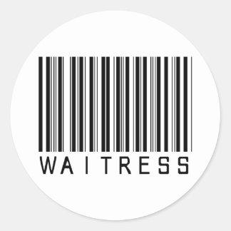 Waitress Bar Code Stickers