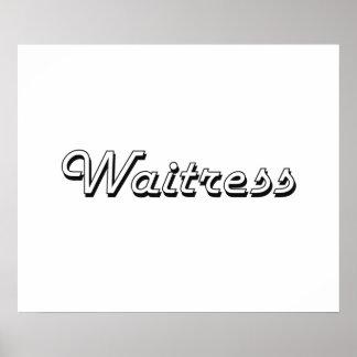 Waitress Classic Job Design Poster