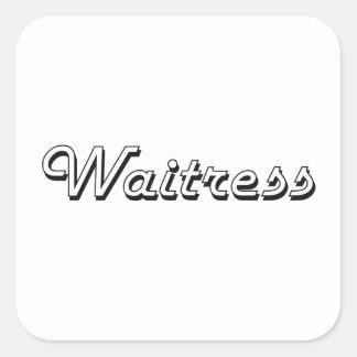 Waitress Classic Job Design Square Sticker