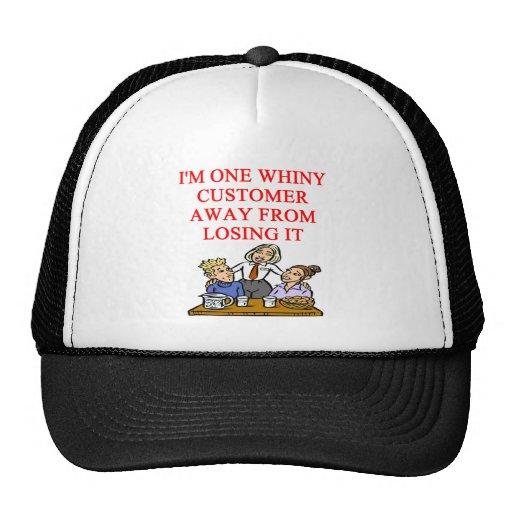 WAITRESS cudtomer joke Cap