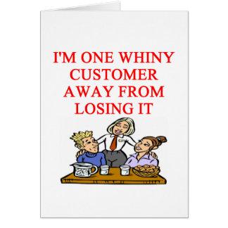 WAITRESS cudtomer joke Card