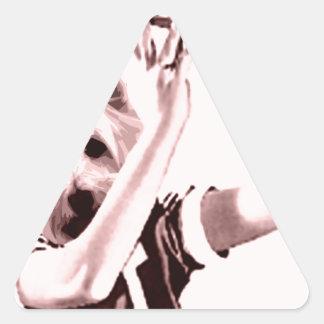 waitress Drinks Triangle Sticker