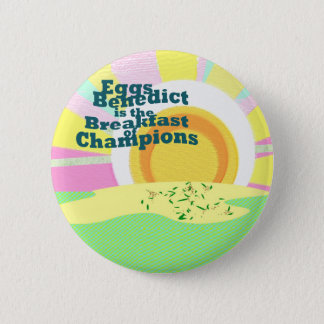 Waitress Flare Eggs Benedict Breakfast Sales - 6 Cm Round Badge