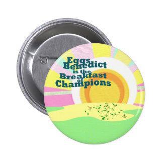 Waitress Flare Eggs Benedict Breakfast Sales - 6 Cm Round Badge