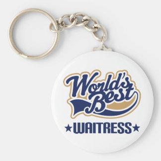 Waitress Gift Basic Round Button Key Ring