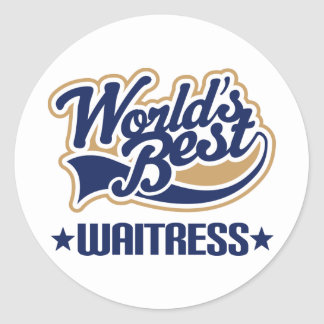 Waitress Gift Round Sticker