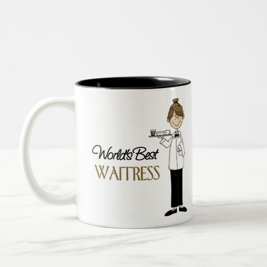 Waitress Gift Two-Tone Coffee Mug