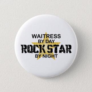 Waitress Rock Star by Night 6 Cm Round Badge