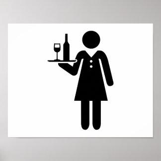 Waitress server poster
