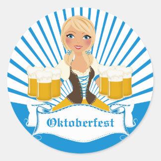 Waitress with Stein Oktoberfest Sticker
