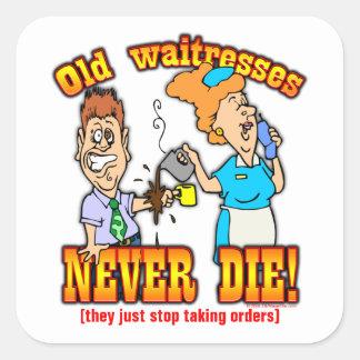 Waitresses Square Sticker
