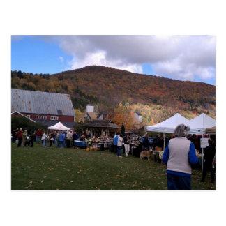 Waitsfield Vermont Farmers Market Oct 2010 Postcard
