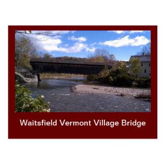 Waitsfield Vermont Village Bridge Postcard