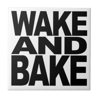 Wake And Bake Small Square Tile