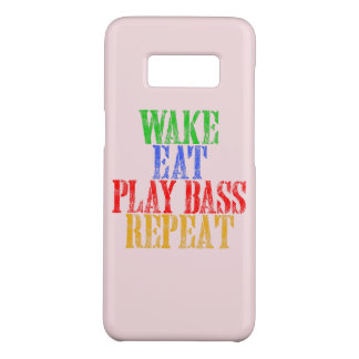 Wake Eat PLAY BASS Repeat Case-Mate Samsung Galaxy S8 Case