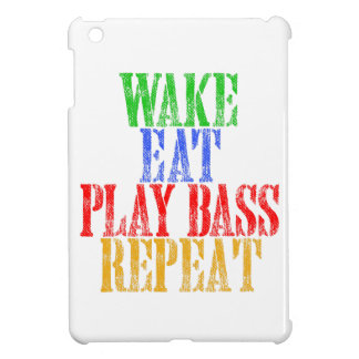 Wake Eat PLAY BASS Repeat iPad Mini Cases